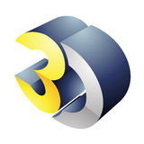 3d Display Technology Symbol Stock Photography