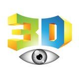 3d Display Technology Symbol Stock Image