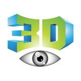 3d Display Technology Symbol. Illustration of 3d Display Technology Symbol isolated on a white background Stock Photos