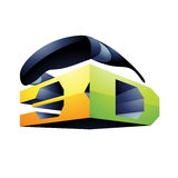 3d Display Technology Symbol Stock Photo