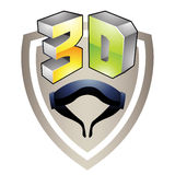 3d Display Technology Symbol. Illustration of 3d Display Technology Symbol isolated on a white background Stock Photo