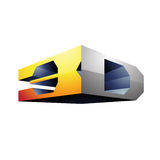 3d Display Technology Symbol Royalty Free Stock Image
