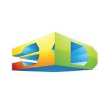 3d Display Technology Symbol. Illustration of 3d Display Technology Symbol isolated on a white background Stock Image