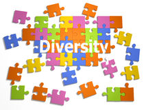 3d Diversity jigsaw stock illustration