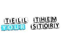 3D dizem-lhes sua história Imagem de Stock