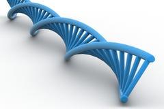 3d DNA-bundel Royalty-vrije Stock Afbeeldingen