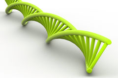 3d DNA-bundel Stock Foto