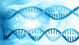 3D DNA-bundels Stock Afbeelding