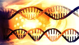 3D DNA-bundels stock illustratie