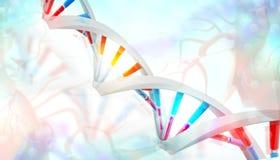 3D DNA-bundels Stock Illustratie