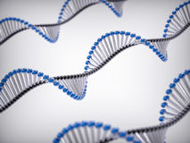 3D DNA Helix BAckground Royalty Free Stock Images