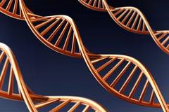 3D DNA helix tło royalty ilustracja