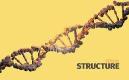 3d dna ilustracja odpłaca się strukturę 3d abstrakta tło Sześcianów elementy Obrazy Stock