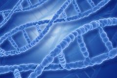 3D DNA loopt achtergrond vast Royalty-vrije Stock Afbeelding