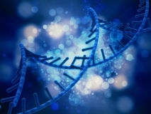 3D DNA medical background Royalty Free Stock Image