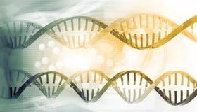 3D DNA pasemka ilustracja wektor