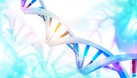 3D DNA pasemka royalty ilustracja