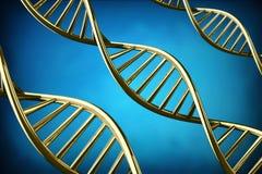 3D DNA-schroefachtergrond Royalty-vrije Illustratie