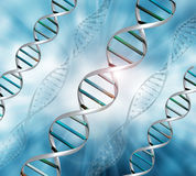 3D DNA strands background Royalty Free Stock Photos