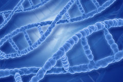 3D DNA strands background. Medical background with 3D DNA stands Royalty Free Stock Image