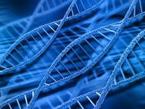 3D DNA strands background. 3D render of DNA strands on abstract background Stock Image