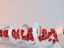 3d DNA of tunnel love Royalty Free Stock Photography