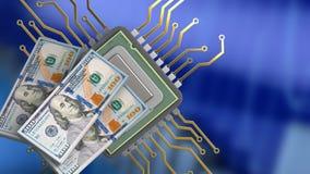 3d do processador central Foto de Stock