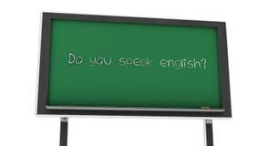 3d do you speak english slate Royalty Free Stock Image