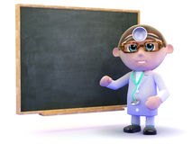 3d Doctor at the blackboard Stock Image