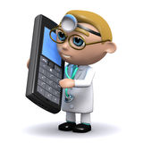 3d Doctor chatting on a cellphone Stock Photo