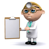 3d Doctor clipboard Royalty Free Stock Photo