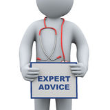 3d doctor holding expert advice Royalty Free Stock Images