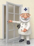 The 3D doctor in hospital Stock Images