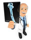 3D Doctor looking at an xray Royalty Free Stock Images