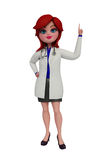 3d Doctor with pointing pose. Stock Photography