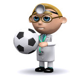 3d Doctor prescribes football Stock Image