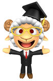 3D Doctor Sheep Mascot has been welcomed with both hands. 3D Ani Stock Photos