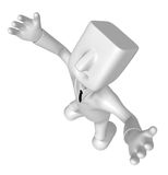 3d doctor standing with his open arms. 3D Square Man Series. Stock Photos
