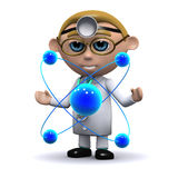 3d Doctor studies atoms Stock Photos
