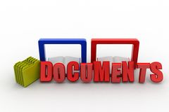 3D  document concept Royalty Free Stock Photos