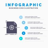 3d, document, file, object, processing Infographics Template for Website and Presentation. GLyph Gray icon with Blue infographic. Style vector illustration vector illustration