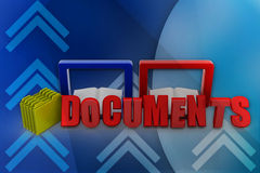 3D document illustration Stock Images