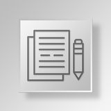 3D documentation icon Business Concept Stock Photography