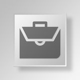 3D documents bag icon Business Concept. 3D Symbol Gray Square documents bag icon Business Concept Stock Images