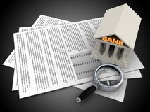 3d documents Royalty Free Stock Image