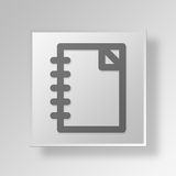 3D documents icon Business Concept. 3D Symbol Gray Square documents icon Business Concept Royalty Free Stock Image