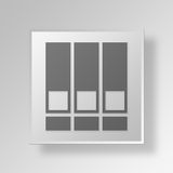 3D documents icon Business Concept. 3D Symbol Gray Square documents icon Business Concept Stock Photos