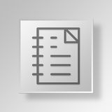 3D documents icon Business Concept. 3D Symbol Gray Square documents icon Business Concept Royalty Free Stock Photography
