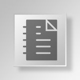 3D documents icon Business Concept. 3D Symbol Gray Square documents icon Business Concept Stock Image