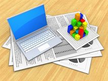 3d documents Stock Photography